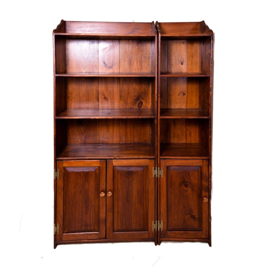 set of pine bookshelves - Pine Bookshelves