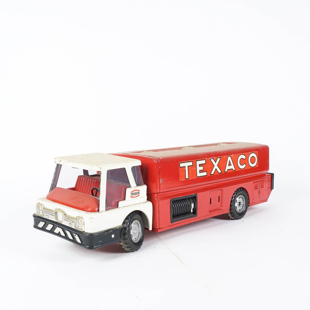 1960's Texaco Brown and Bigelow Jet Fuel Toy Tanker Truck