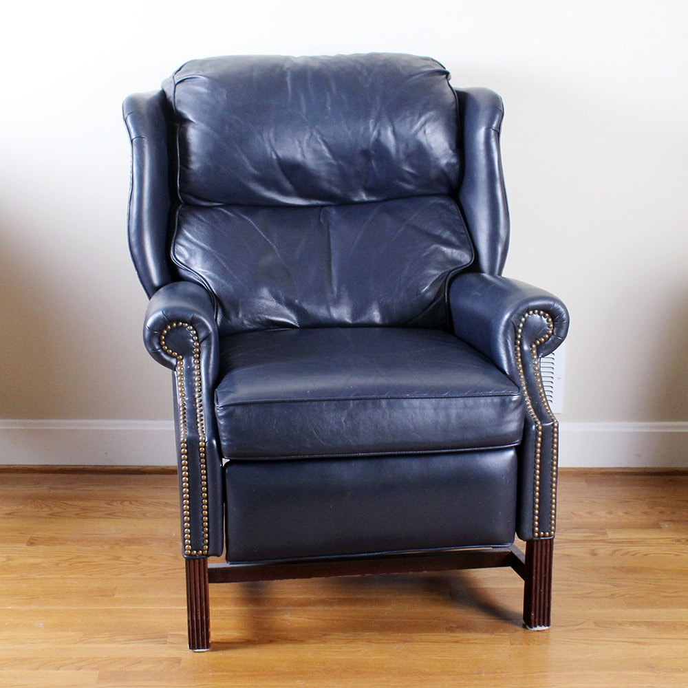 Bon Thomasville Leather Wingback Recliner ...