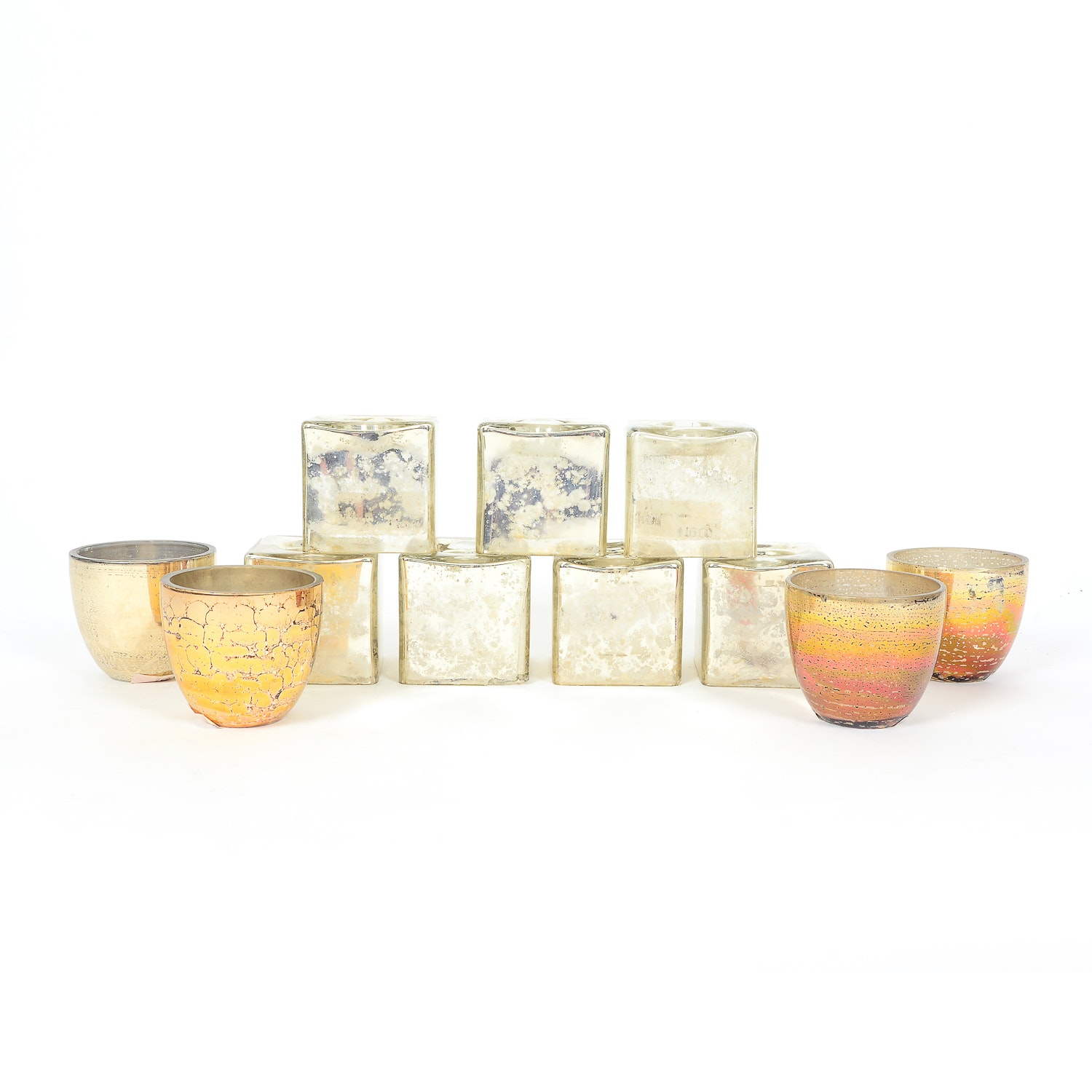 Collection of Glass Candle Holders