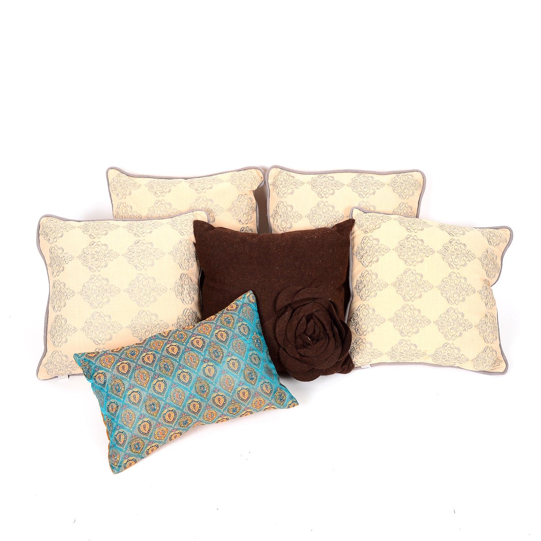 Set of Six Accent Pillows