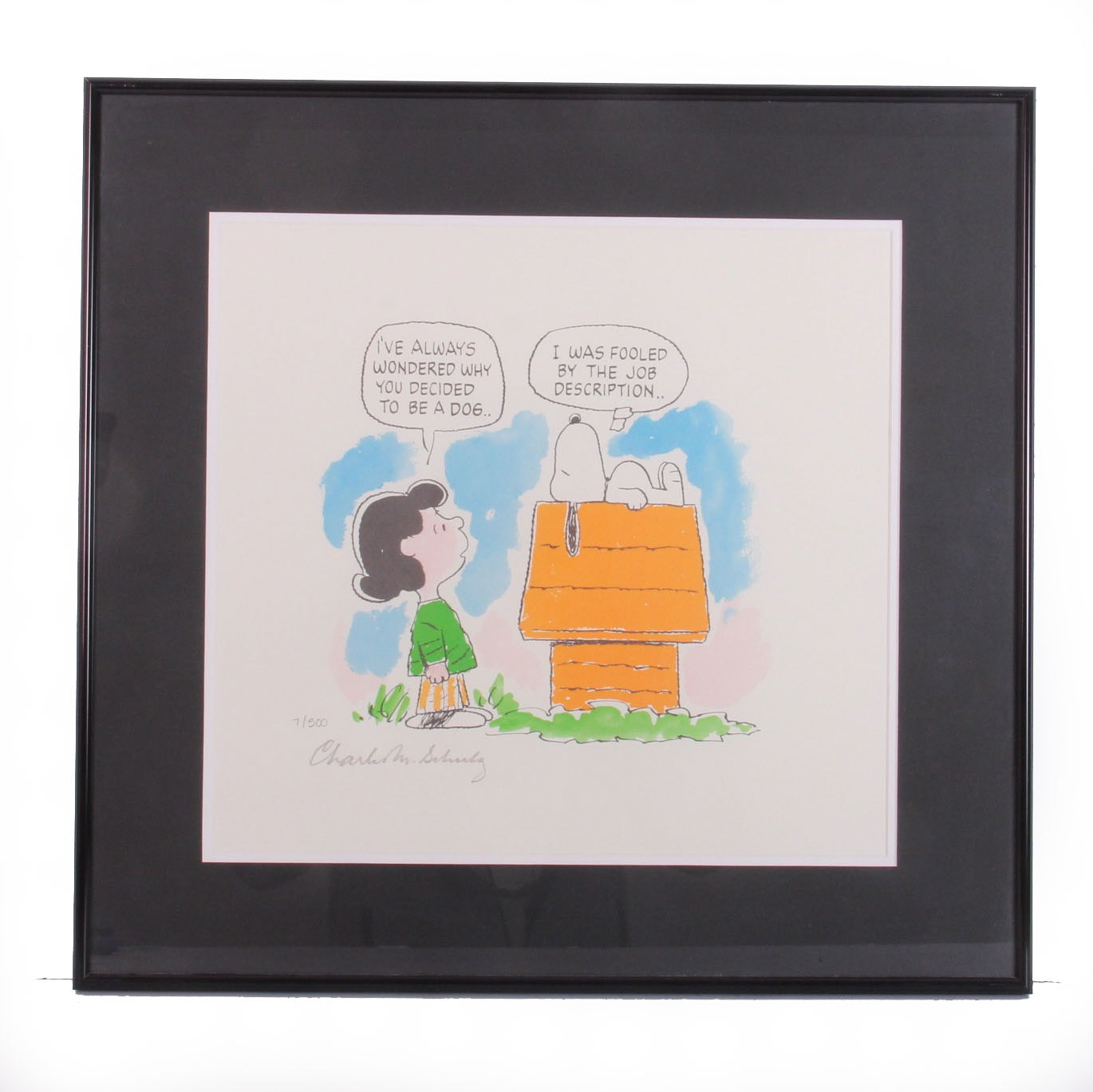 "S & S Auto Sales >> Signed Limited Edition Charles Schulz Lithograph ""Wanted: Man's Best Friend"" : EBTH"