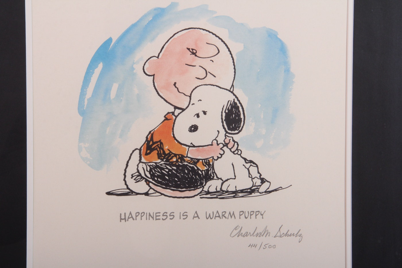 Signed Limited Edition Charles Schulz Print Quot Happiness Is