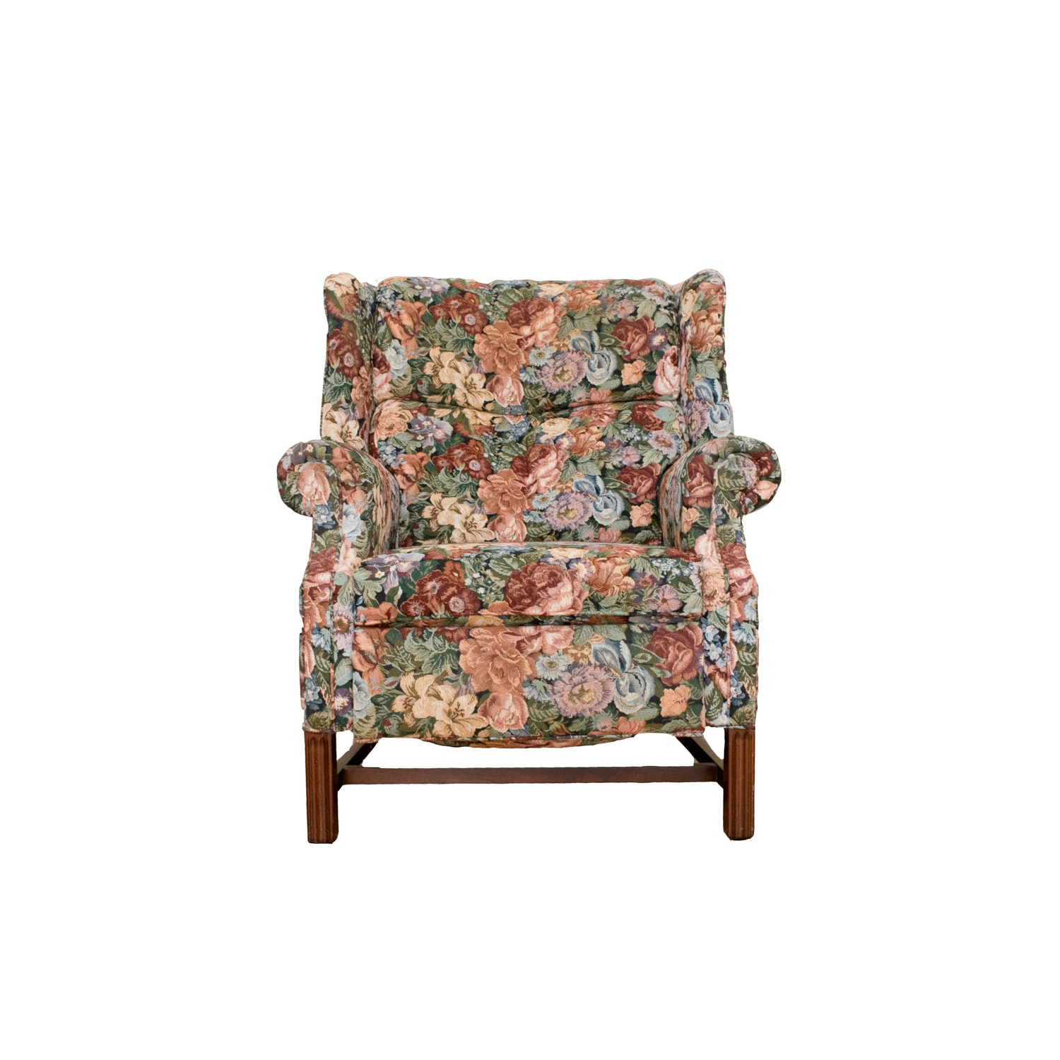 chippendale style wingback recliner