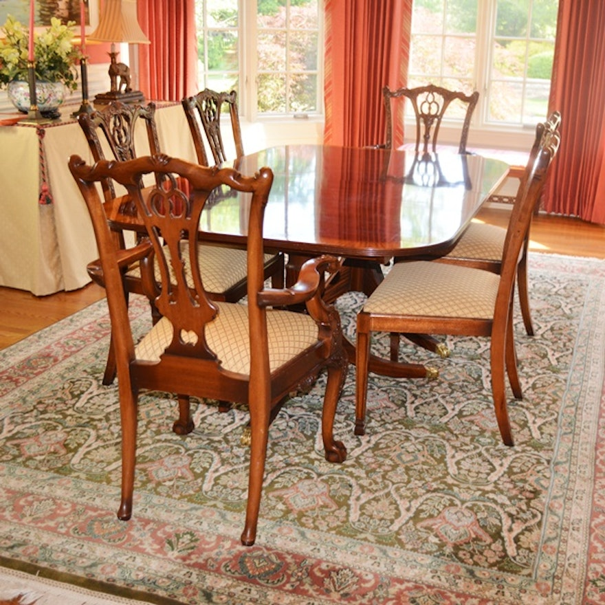 Excellent Ardley Hall Duncan Phyfe Style Dining Table And Eight Chairs Home Interior And Landscaping Ologienasavecom