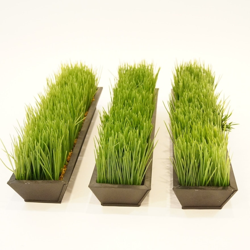 Faux Grass Decor