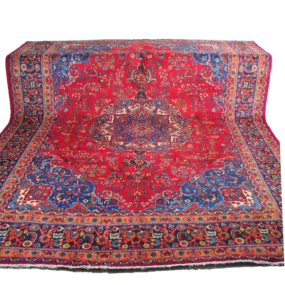 Hand Knotted Persian Sarouk Area Rug