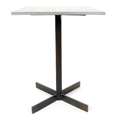 Stone and Metal Side Table by Noir