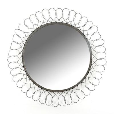 Circular Metal Accent Mirror