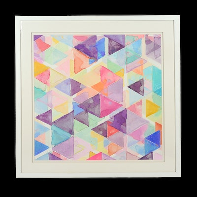 Geometric Watercolor on Paper