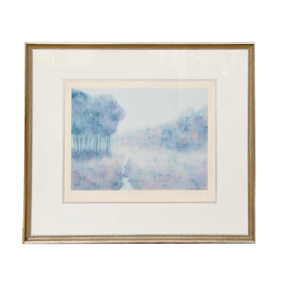 "Georgia Bragg Monotype ""Morning Mist"""