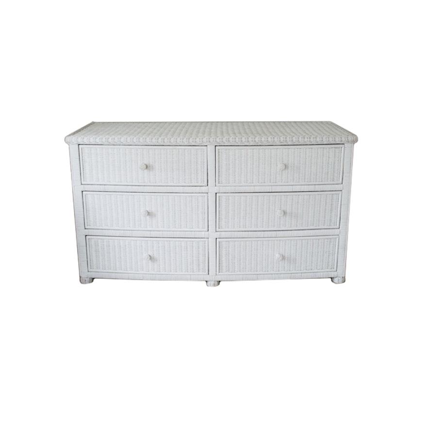 White Wicker Dresser