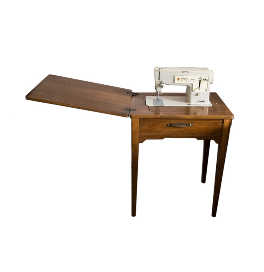 Singer sewing machine table ebth - Singer sewing machine table ...