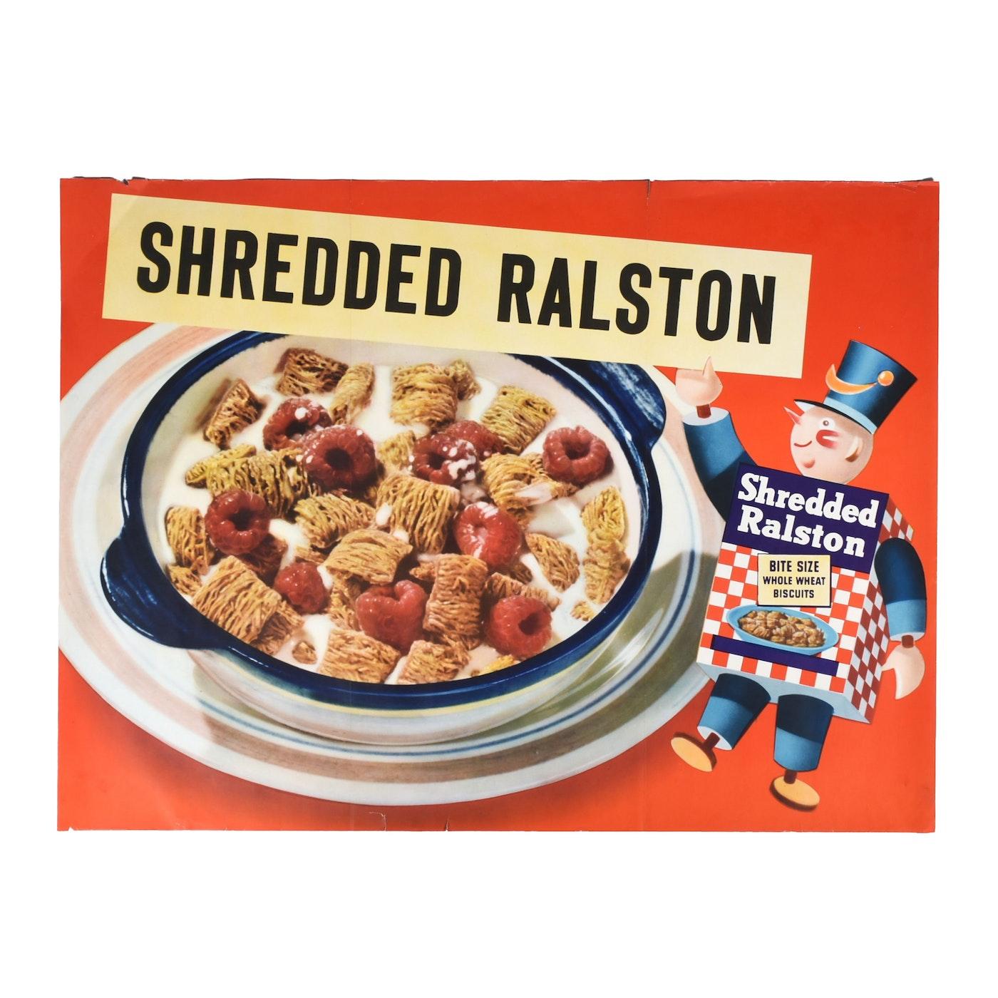 Vintage Shredded Ralston Cereal Poster