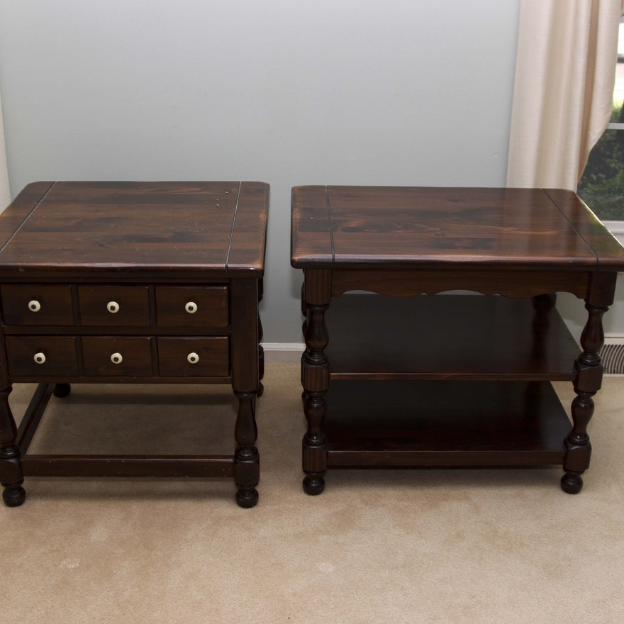 Pair Of Vintage Ethan Allen End Tables Old Tavern Collection