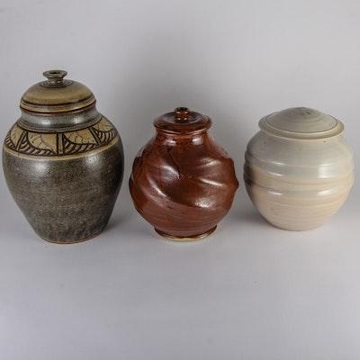 Trio of Lidded Jars