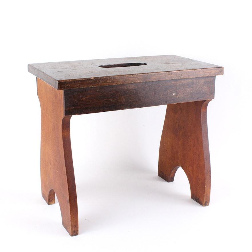 Household Wooden Single Step Stool