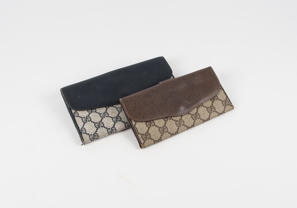 Pair of Vintage Gucci Wallets
