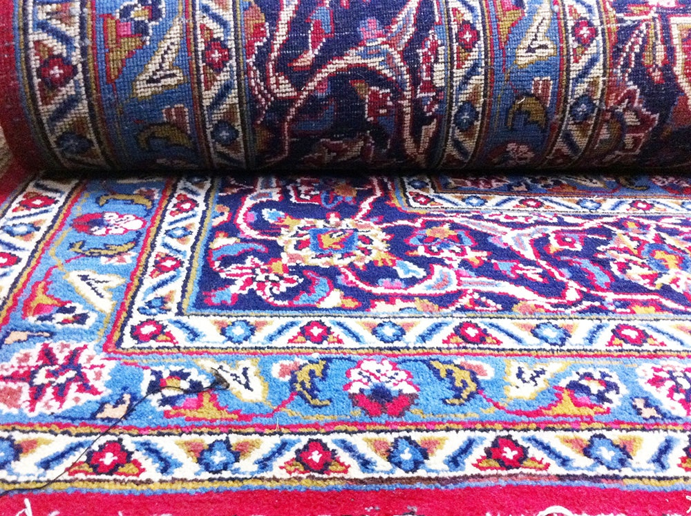 Hand-Knotted Isfahan Persian Rug