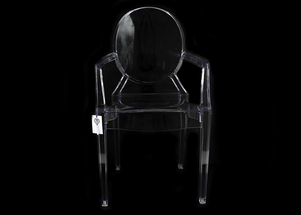 Louis-Philippe Stark Style Lucite Arm Chair