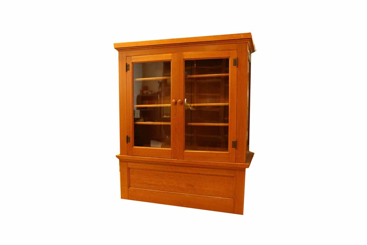 Two Sided Oak Display Cabinet
