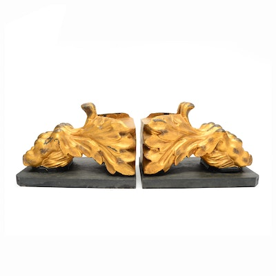 Pair of Gilt Foliate Bookends