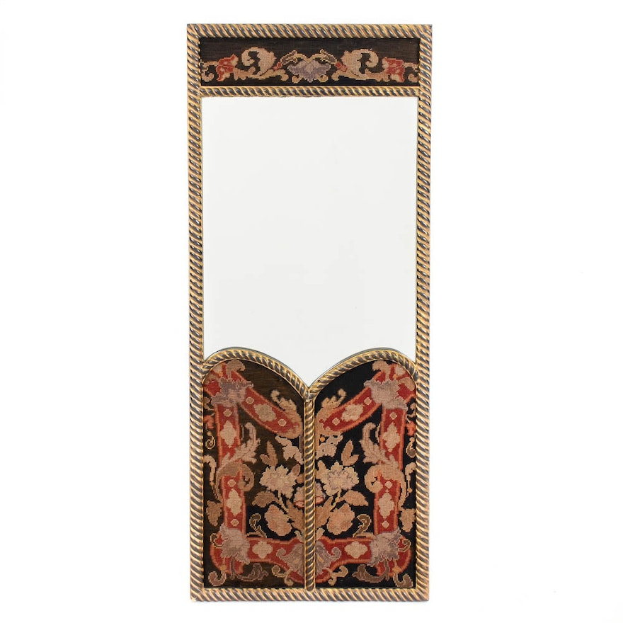 Wall Mirror with Needlepoint Frame : EBTH