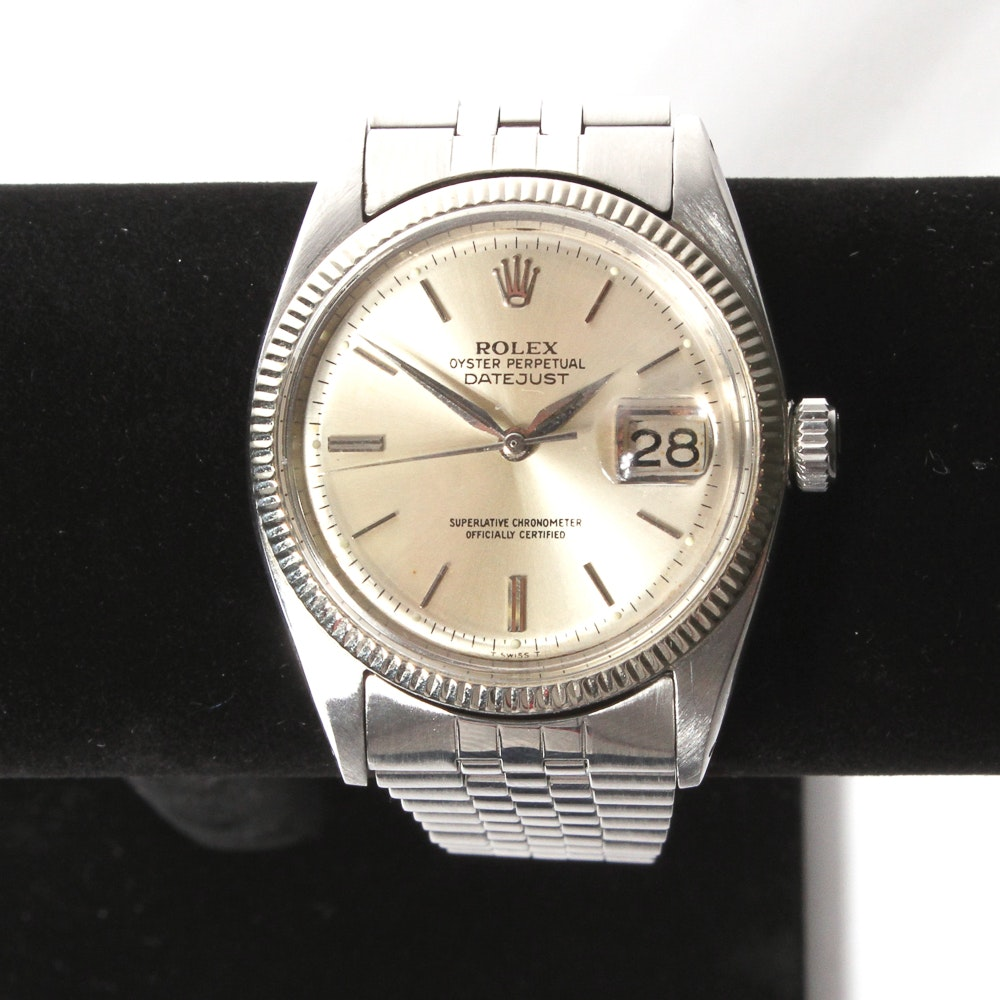 Vintage Mens Rolex Oyster Perpetual Datejust Watch