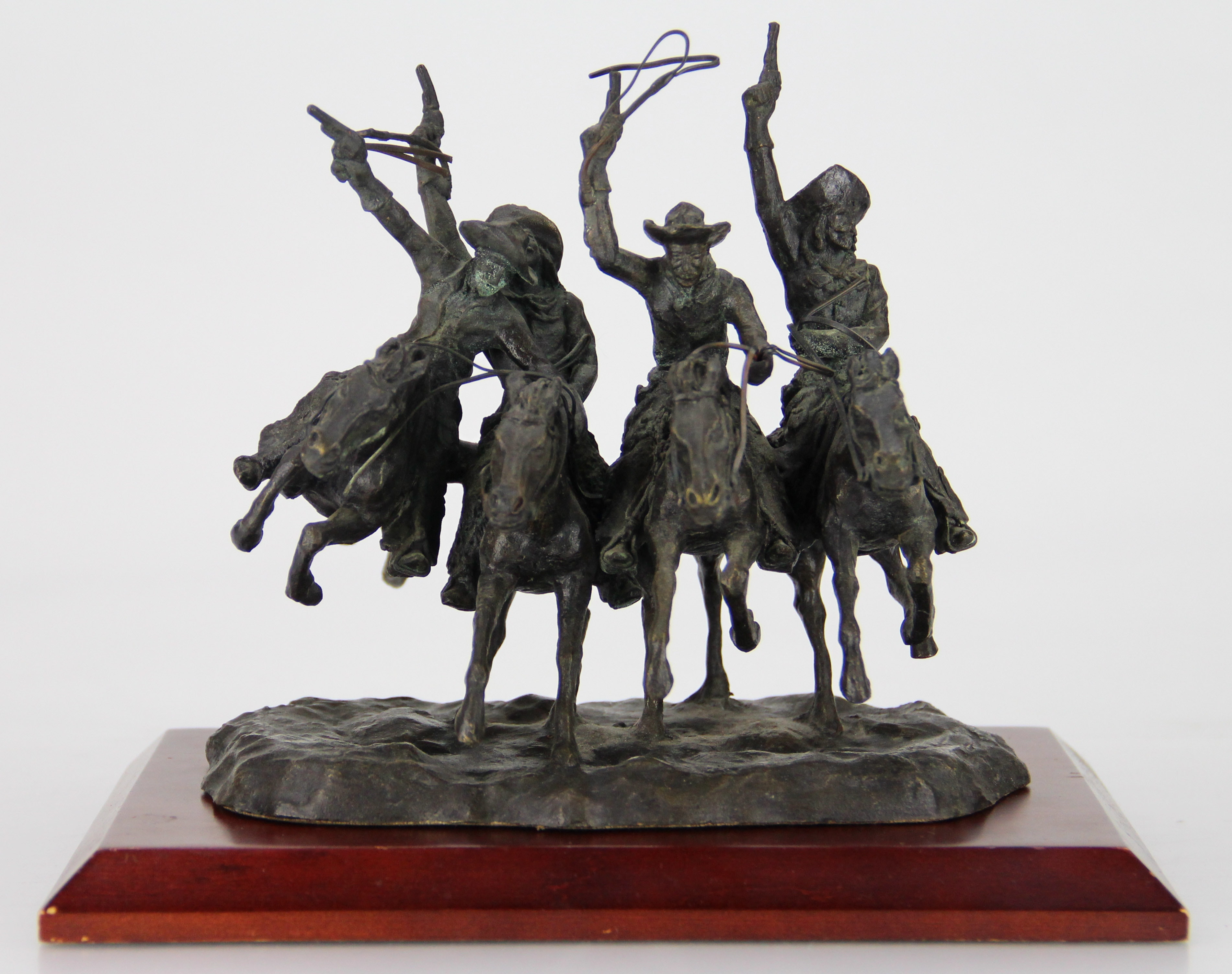 "Bronze Sculpture After Frederic Remington's ""Coming Through the Rye"""