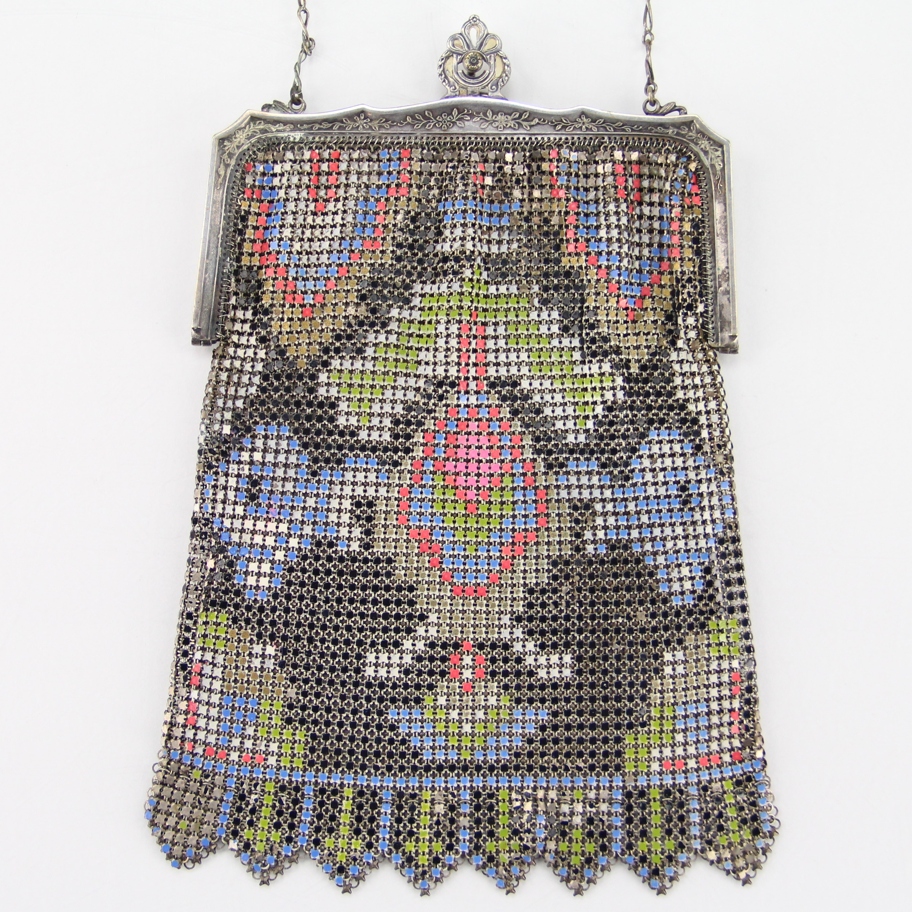 Vintage Enameled Mesh Purse from Whiting & Davis Co.