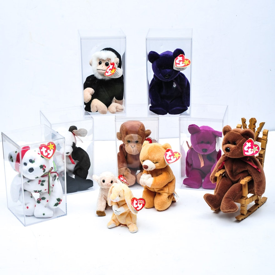 893a76bf6b7 Collection of TY Beanie Babies Featuring The Princess Diana Bear   EBTH