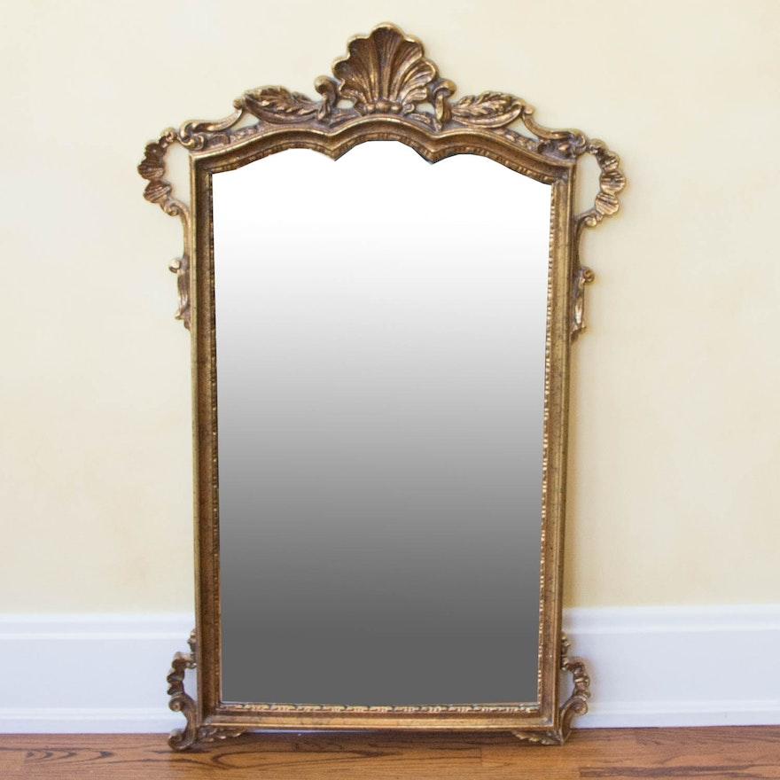 Vintage Carolina Mirror Company Mirror in Ornate Gold Gilt Frame : EBTH