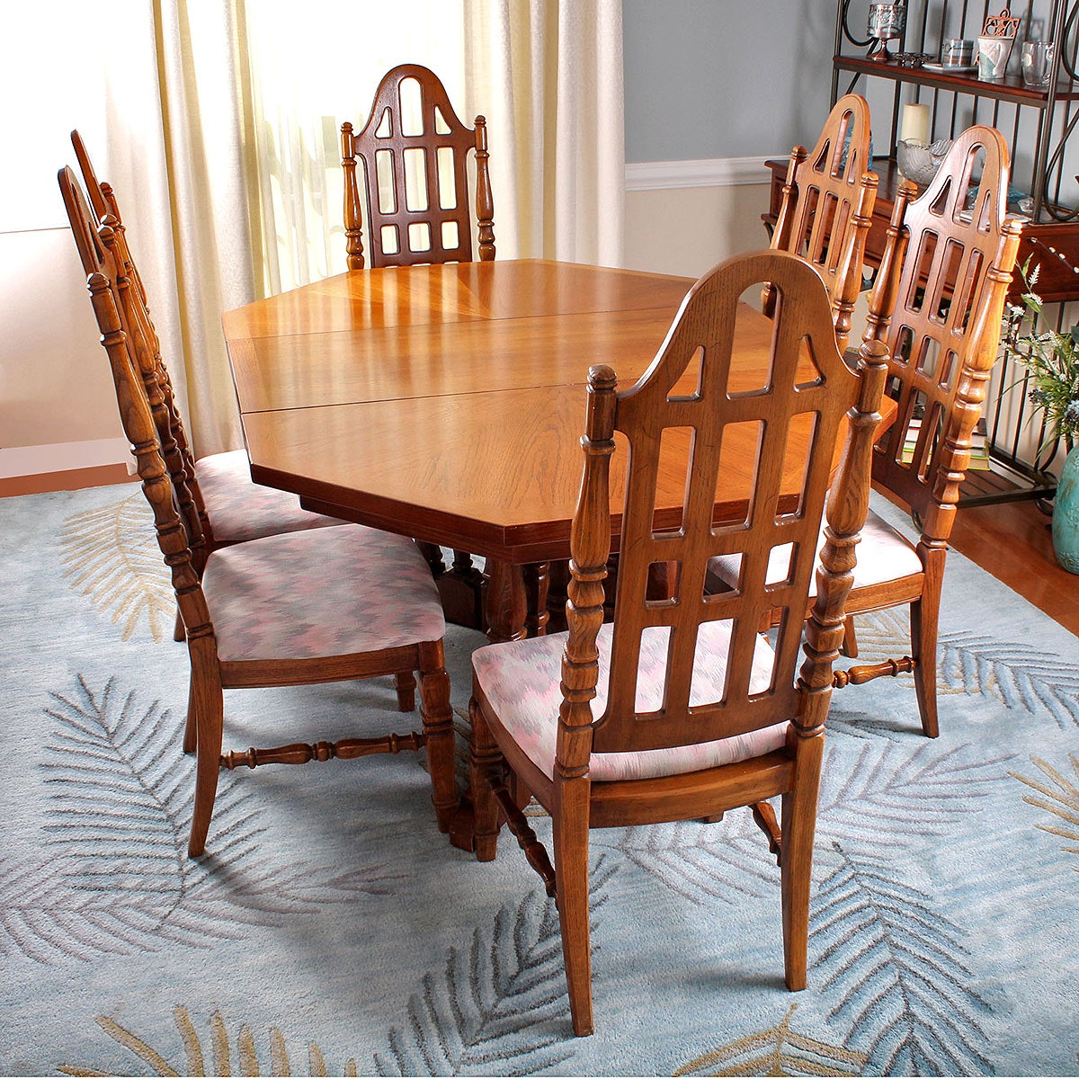 Mid Century Oak Dining Table and Chairs