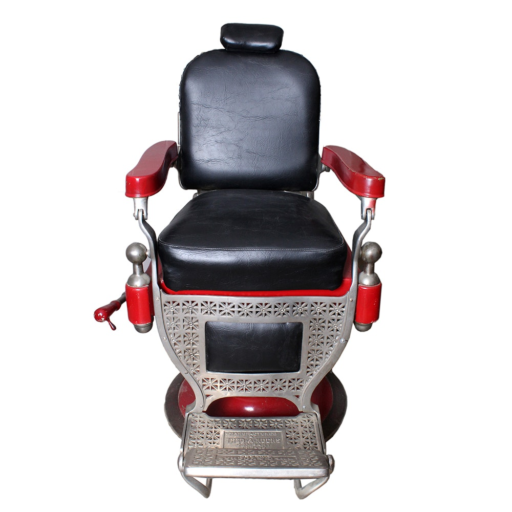Vintage Theo A Kochs Barber Chair ...