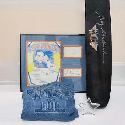 "Collection of Autographed Memorabilia  from the TV Show ""Wings"""