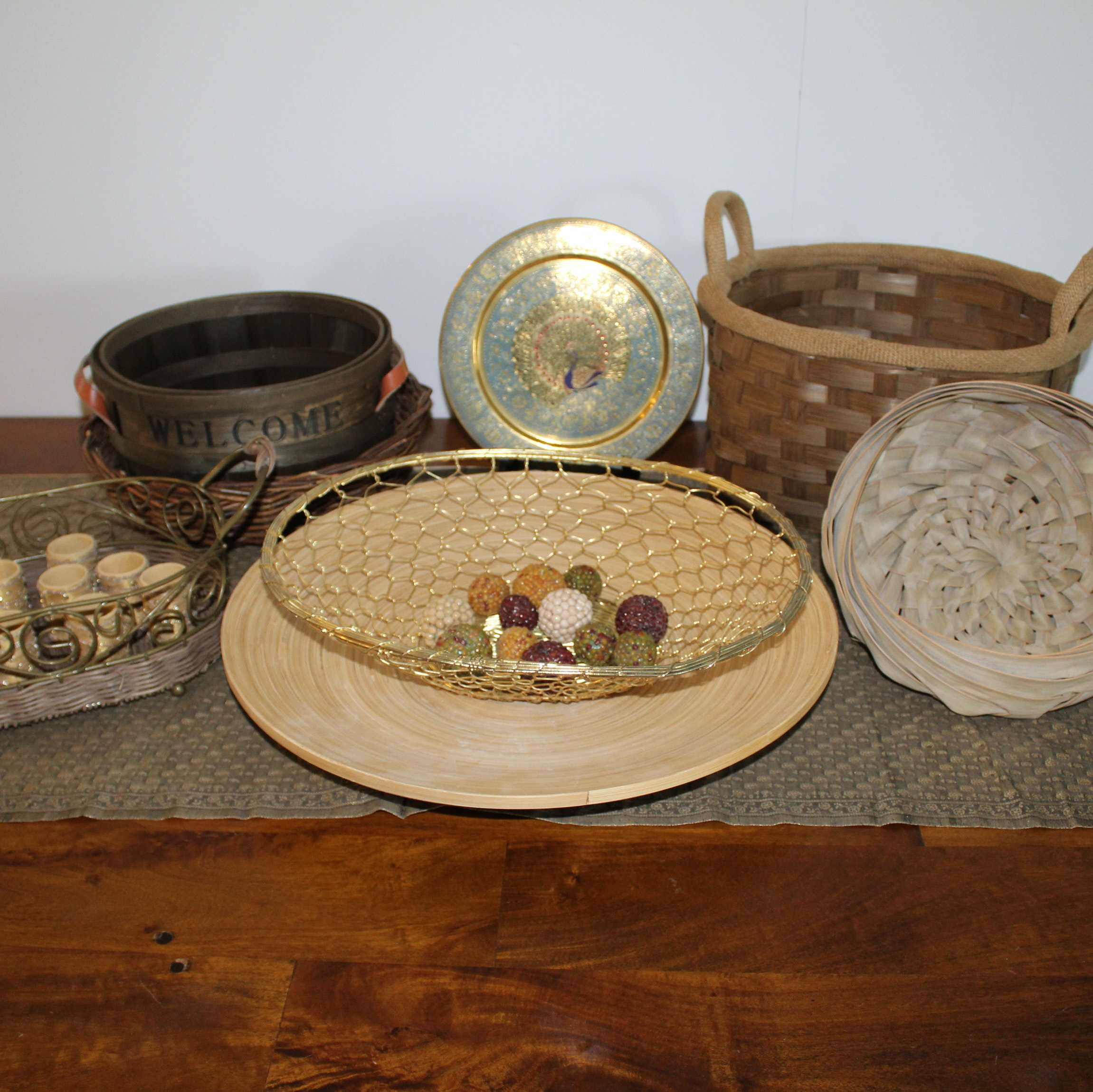 Basket and Decor Grouping