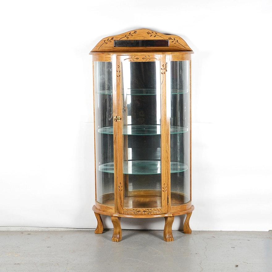 Half Moon Oak Curio Cabinet : EBTH