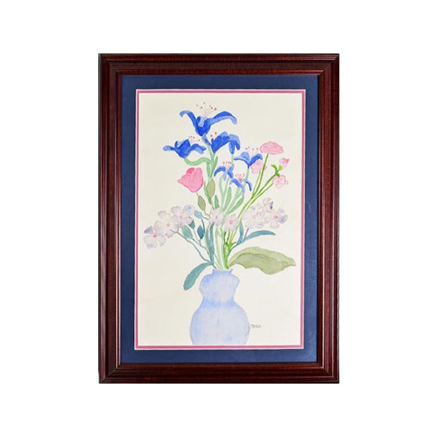 Framed and Signed Original Watercolor By Marshall
