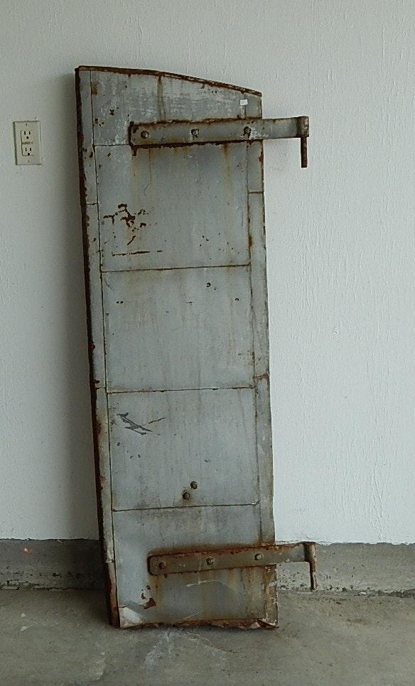 Antique Distillery Steel Metal Door