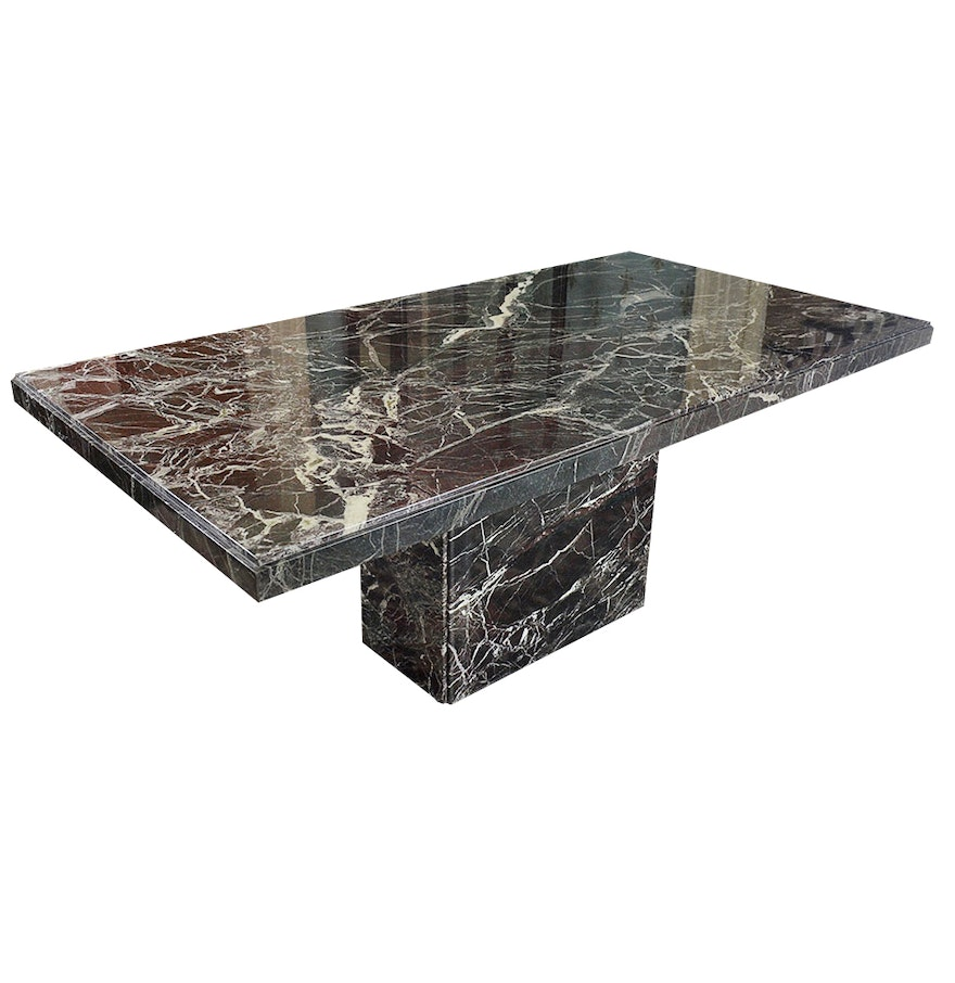 Black italian marble dining table ebth Black marble dining table set
