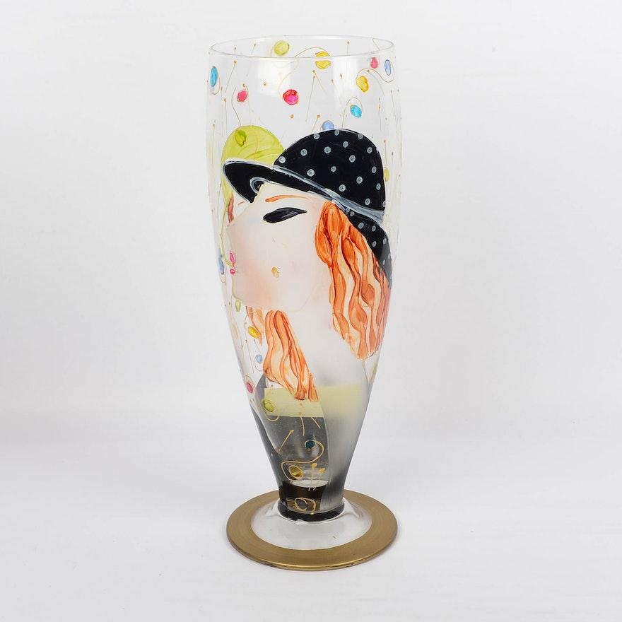 Vintage Murano Glass Vase Ebth