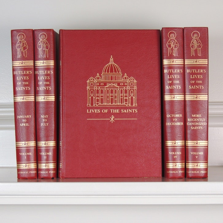 """Butler's Lives of the Saints"" Five-Volume Set"