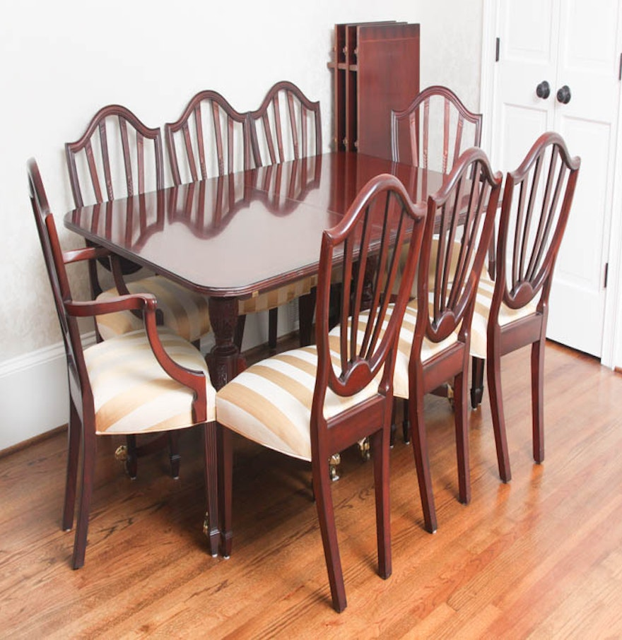 Baker Dining Room Table Baker Historic Charleston Dining Room Table And Chairs Ebth