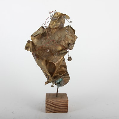 Abstract Metal Sculpture by Ilana Ziff