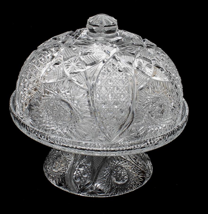 Cut Glass Cake Dome