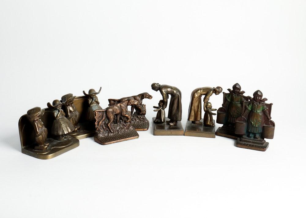 Vintage Cast Metal Bookend Collection