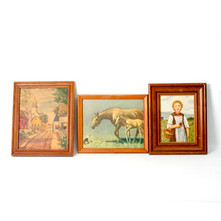 Framed Vintage Art