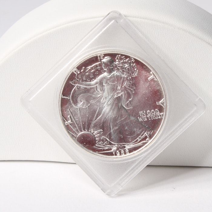 1988 Uncirculated American Silver Eagle Coin