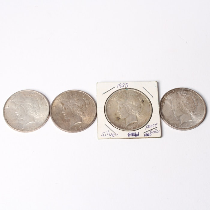 1922- 1923  Silver Peace Dollars