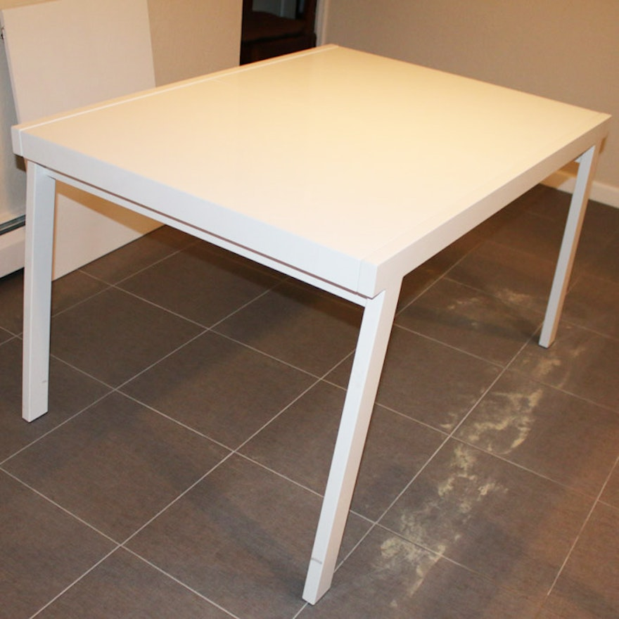 CB White Pocket Extension Table By Slate Design EBTH - Cb2 white coffee table
